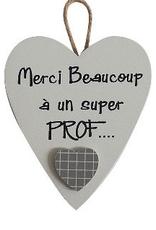 "Coeur ¨Merci Beaucoup à un super PROF..."""