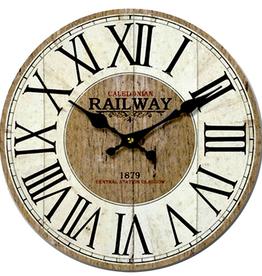 Horloge blanc rustique