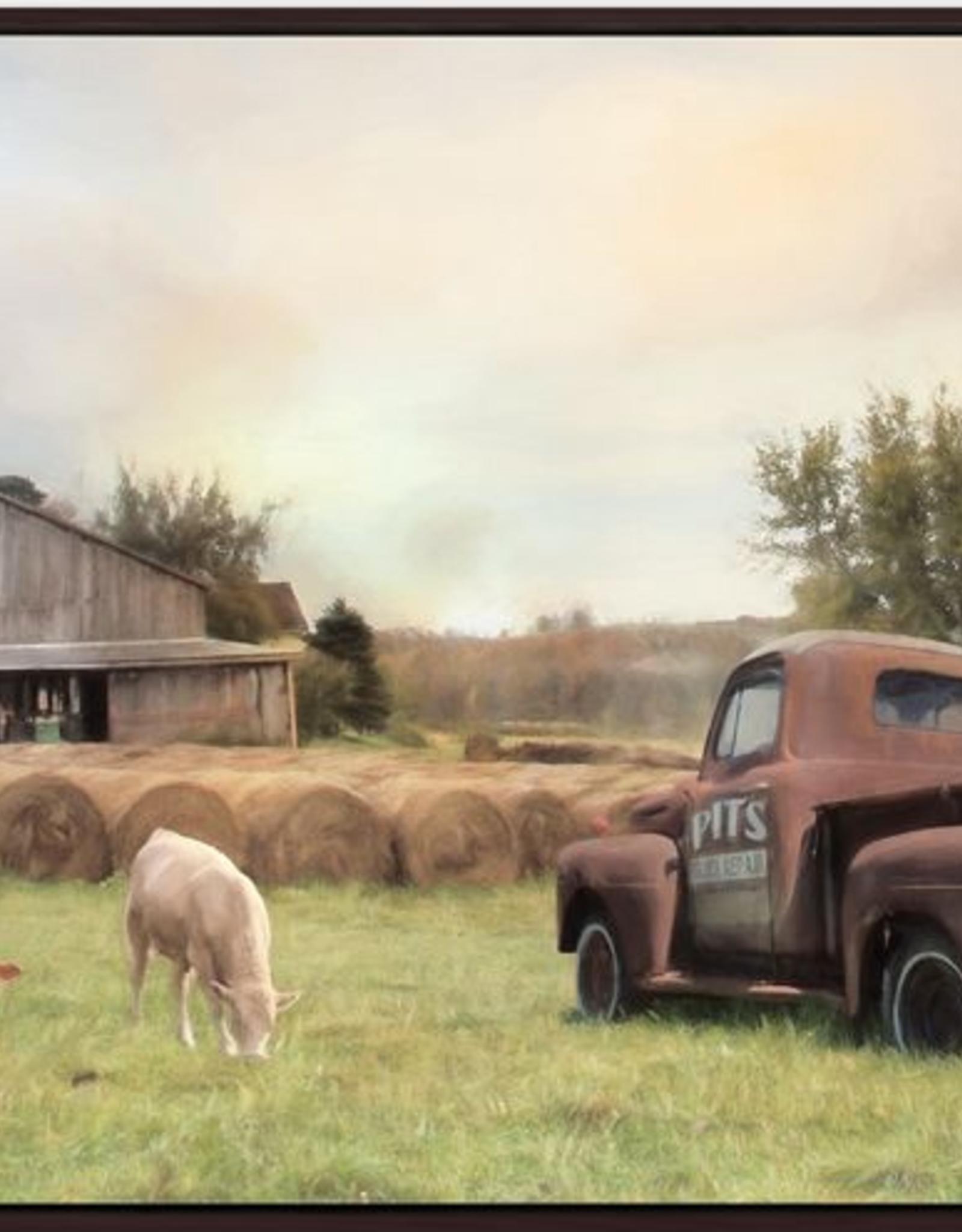 "Toile ""Country Farmland"" 30x60"