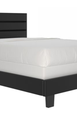 Grand lit de 60 po Gary en noir