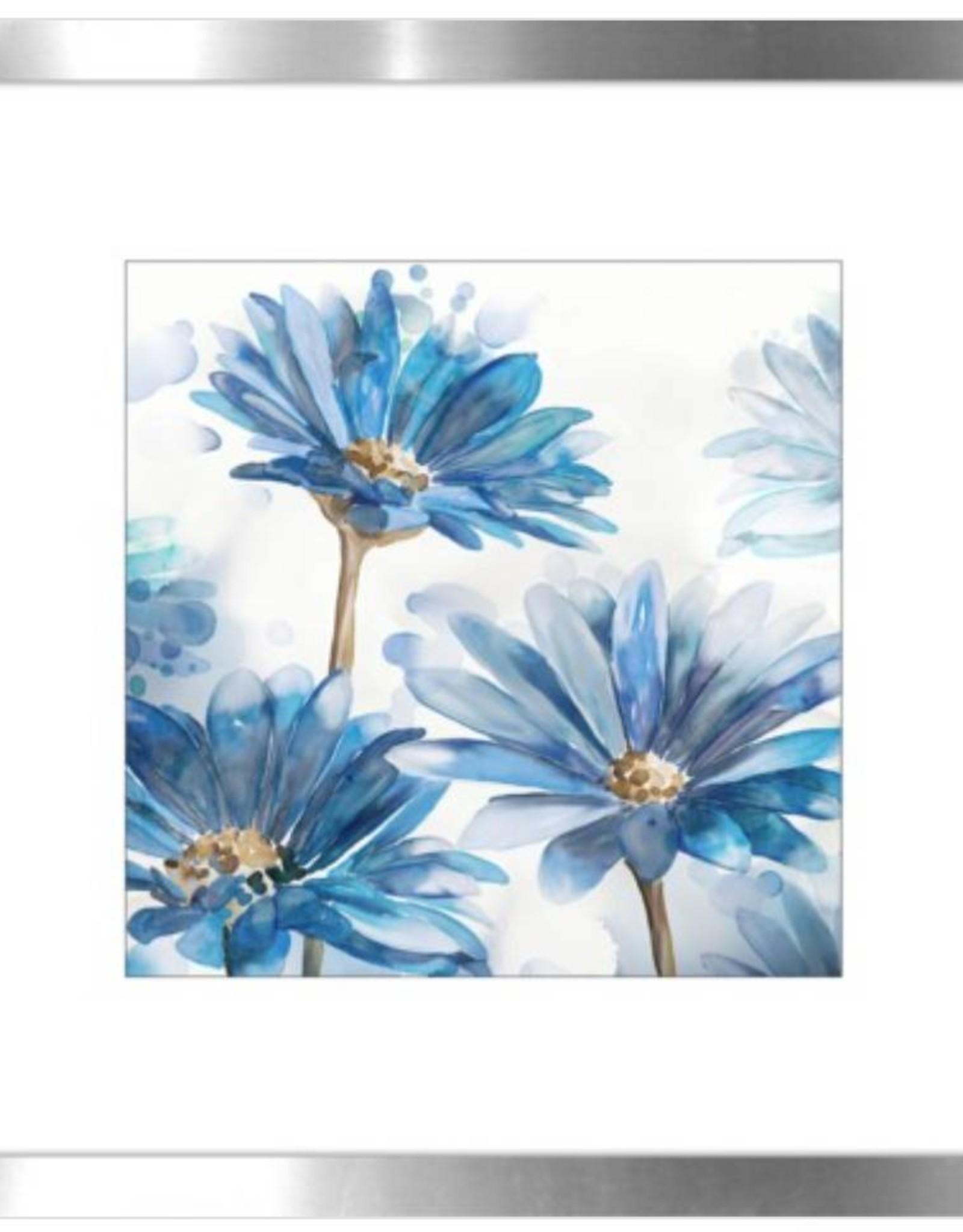 """Cadre jardin bleu #1 BRIGHT BLUE GARDEN II 18"""" X 18"""""""