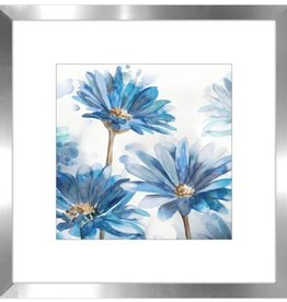 "Streamline Cadre jardin bleu #1 BRIGHT BLUE GARDEN II 18"" x 18"""