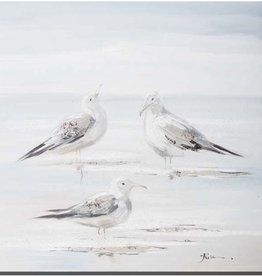 """Toile oiseaux A COOLING OFF 24"""" X 24"""""""
