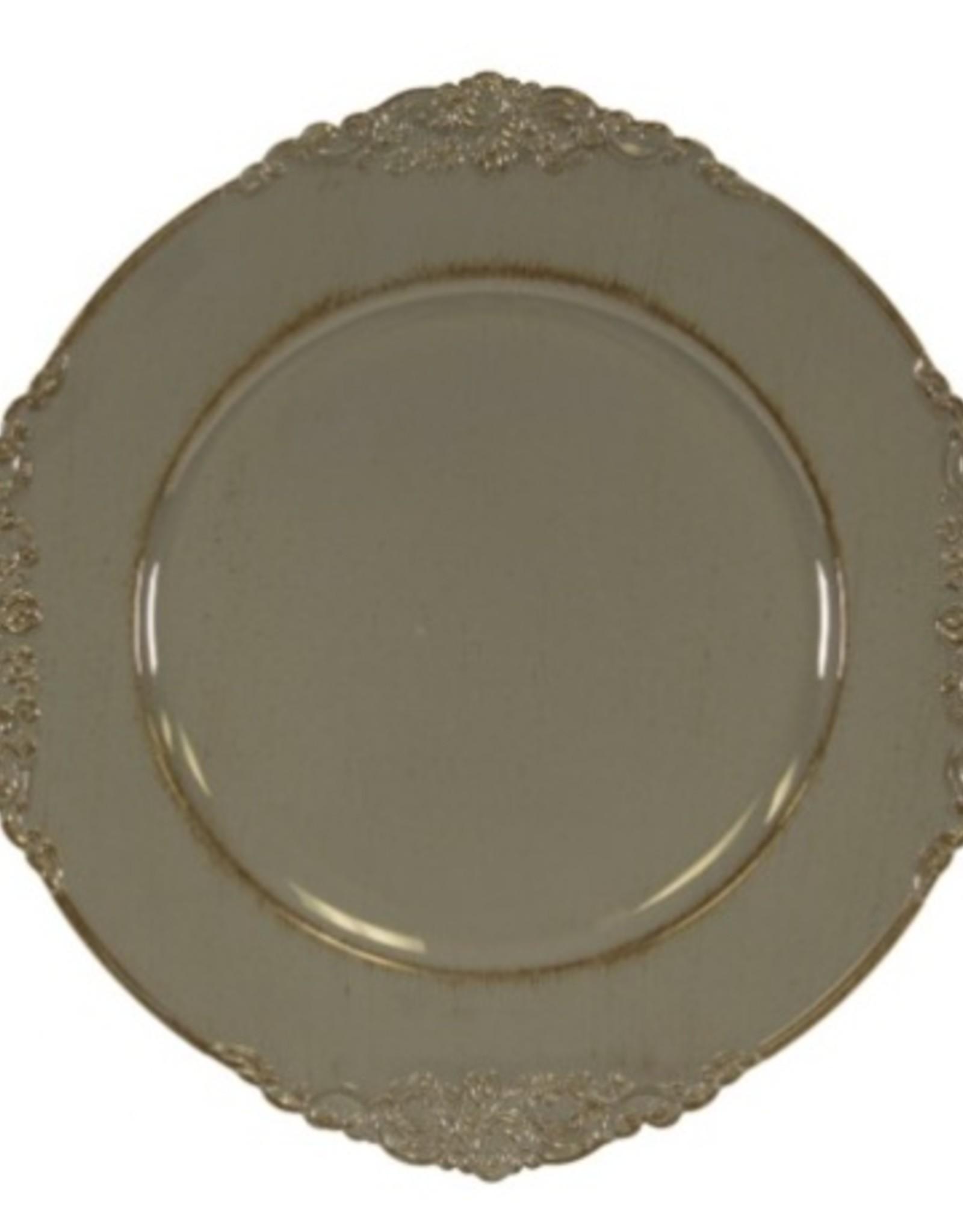 Assiette de table grise