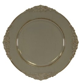 Assiette de table grise