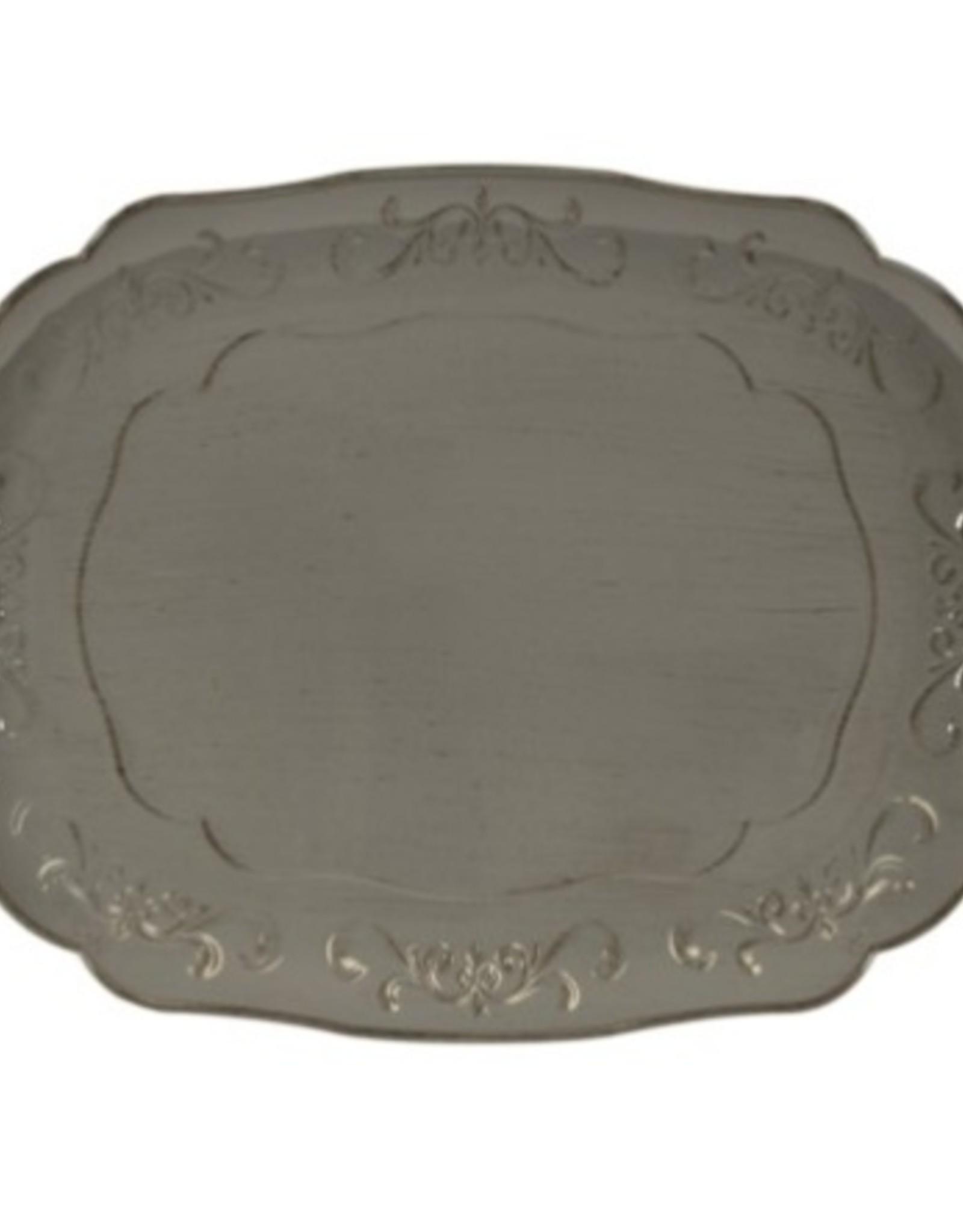 Assiette de table grise grande