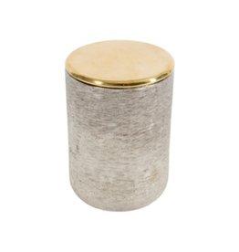 Pot avec couvert or et argent
