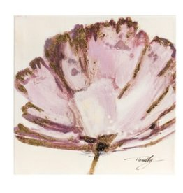 "Toile fleur rose 12"" X 12"""