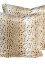 """Coussin léopard carré 18"""" x 18"""""""