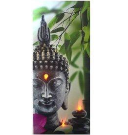 """Cadre bouddha vertical lumineux 11"""" x 24"""""""