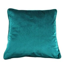 "Coussin sarcelle 18"" x 18"""