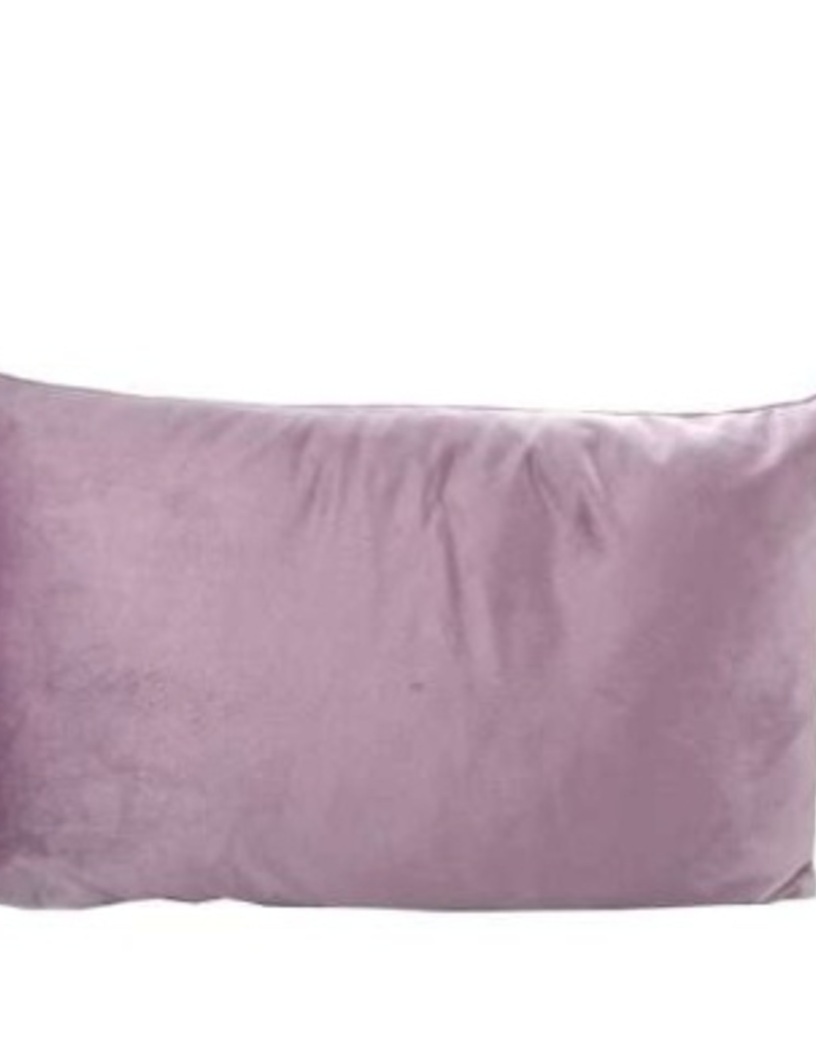 "Coussin velours prune 12"" x 20"""