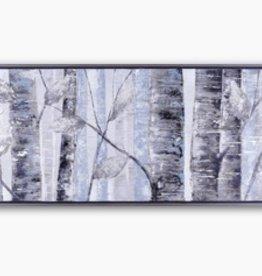 """Toile arbres bleus 73"""" X 22"""""""
