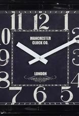 "Horloge Manchester carrée 23"" X 23"""