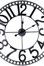 """Horloge métal grise 31"""""""