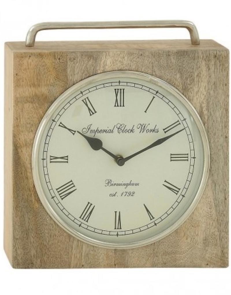 """Horloge de table en bois 11"""""""