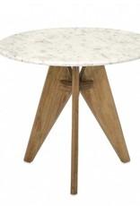 """Table Bois et Marbre 22""""L X 19""""H"""