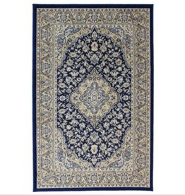 Tapis Art silk Kirman Navy 4' X 6'