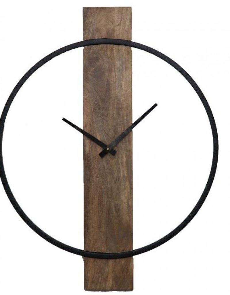 Horloge Pearl métal/bois