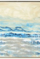 """Toile Viedma abstrait turquoise 40"""" X 40"""""""