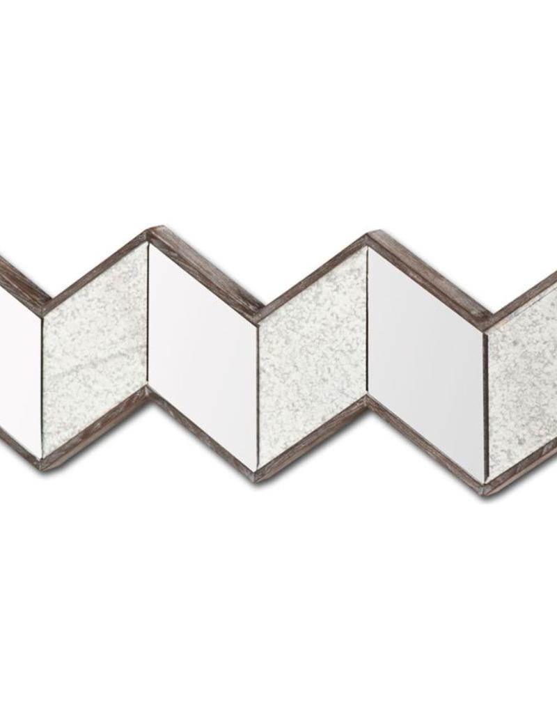 "Miroir chevrons dorés 12"" X 36"" CHEVERONNA I"