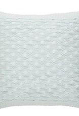 """Brunelli Coussin tricot bleu pâle 18"""" X 18"""""""