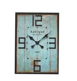 """Horloge Turquoise 20"""" x 28"""""""