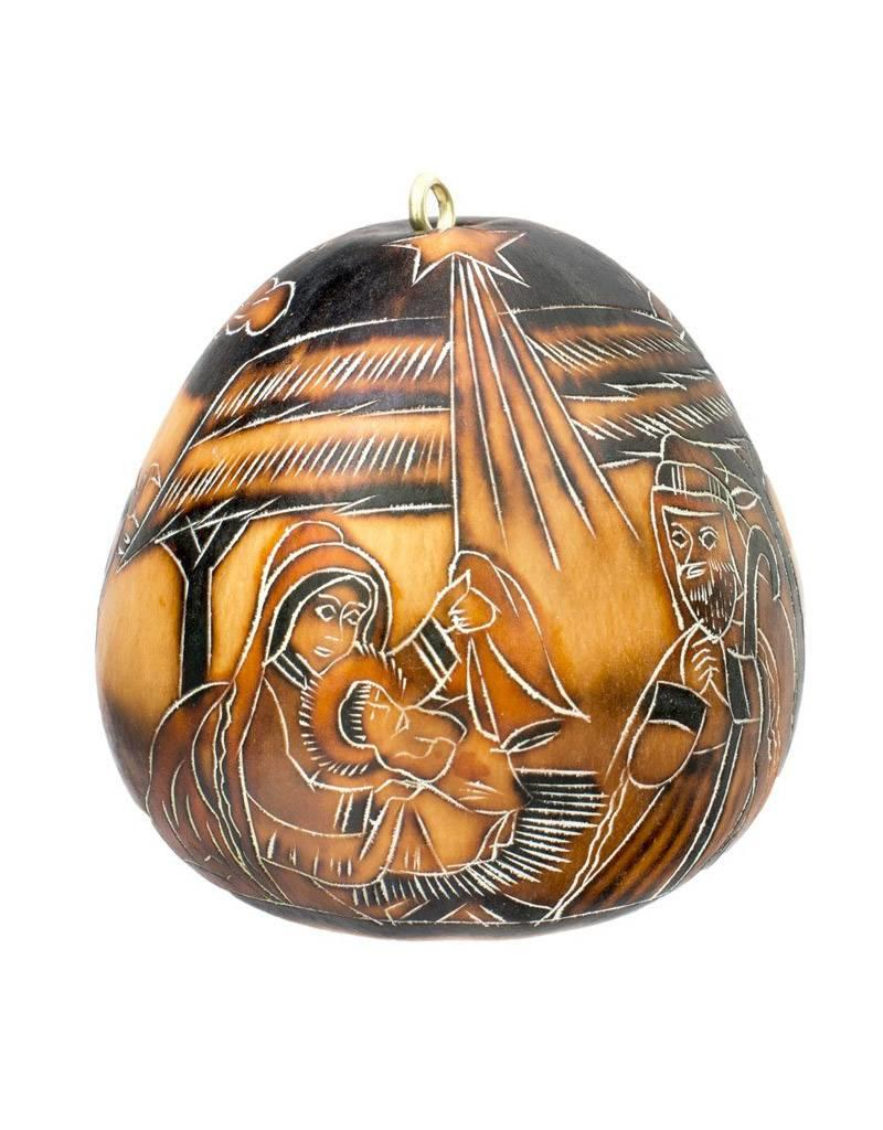 Lucuma Designs Nativity Gourd Ornament