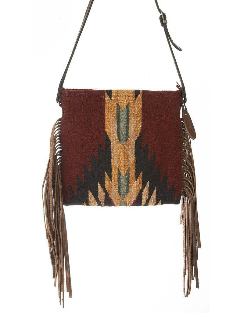 MZ Fair Trade Shadow Crossbody Fringe Purse