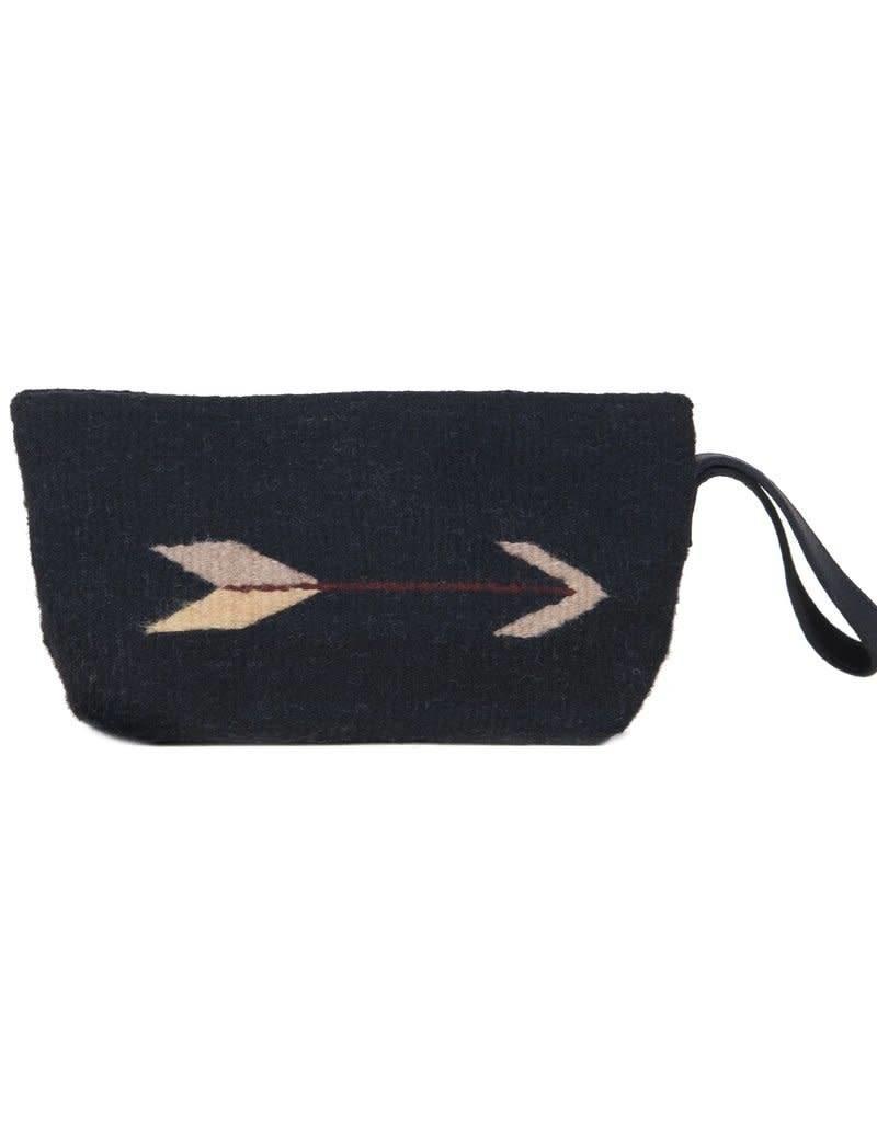MZ Fair Trade Midnight Arrow Wristlet Clutch