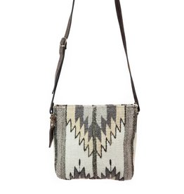 MZ Fair Trade Natural Chevrons Crossbody Purse