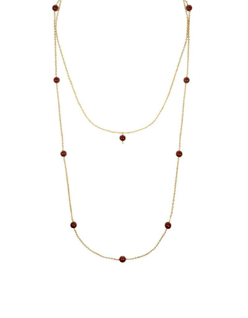 Purpose Jewelry Cara Ruby Red Necklace