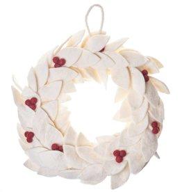 Global Goods Partners Holiday Felt Wreath