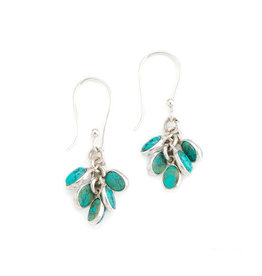 Asha Handicrafts Aqua Cluster Earrings