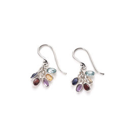 Asha Handicrafts Gemstone Cluster Earrings