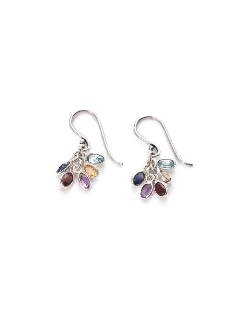 Asha Handicrafts Gemstone Cluster Earrings