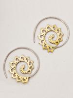 dZi Spiraling Lotus Earrings