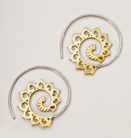 dZi Spiraling Lotus Earrings