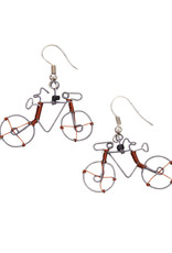 Recycled Wire Bicycle Earrings