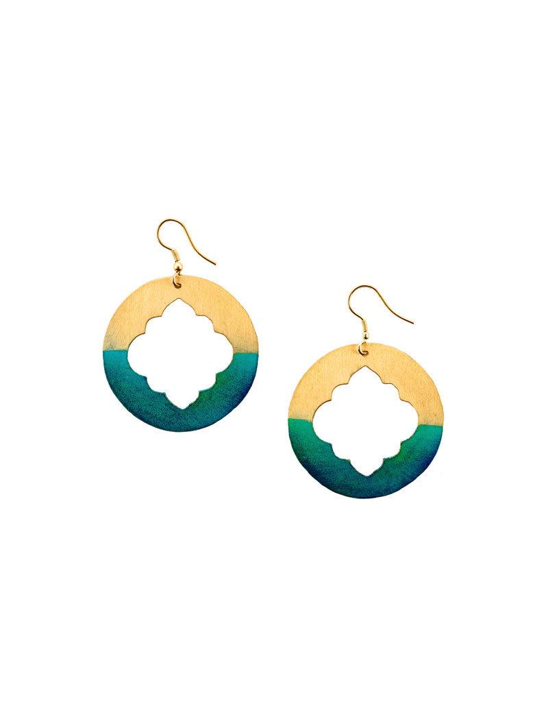 Matr Boomie Gold Patina Earrings