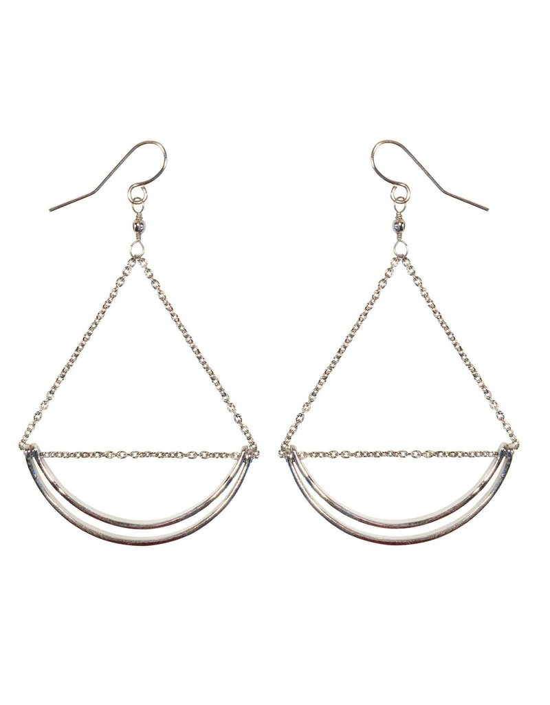 Purpose Jewelry Lunette Silver Earrings