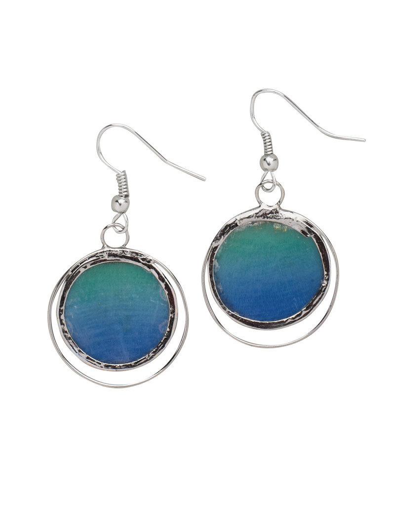 Saffy Handicrafts Crystal Pool Earrings