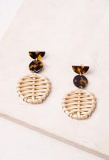 Starfish Project Emmie Resin & Wicker Earrings