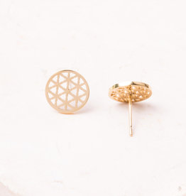 Starfish Project Maile Gold Circle Earrings