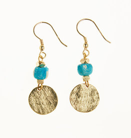 Tara Projects Blue Sari Earrings