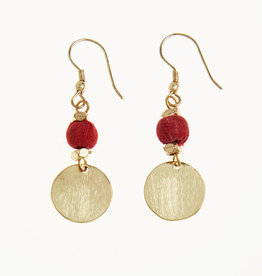 Tara Projects Red Sari Bead Earring
