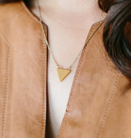 Starfish Project River-Gold Triangle Necklace