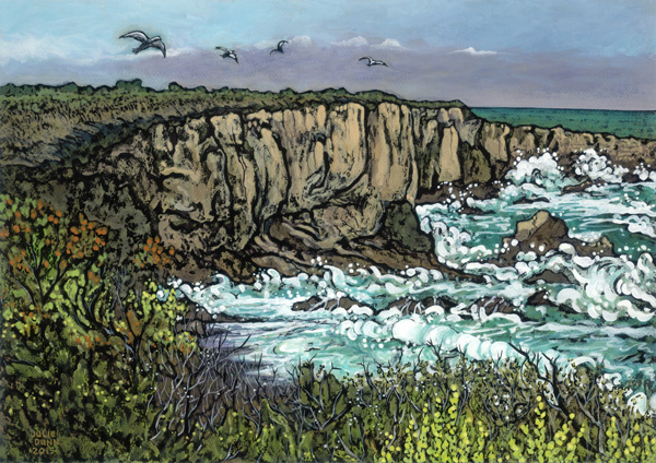 Julie Dunn's Turbulent Surf - Montana de Oro, at HumanKind Fair Trade