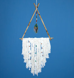 dZi Peacock TeePee Dreamcatcher