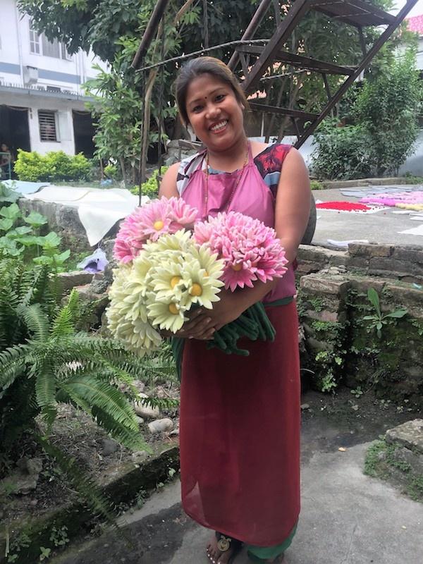 HumanKind Nepali Woman Felt Flower Artisan